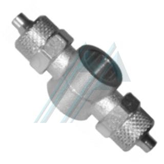 """Semi-quick connector in nickel-plated brass (RAF Series - Double adjustable """"T"""")"""