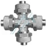 Semi-quick connector in nickel-plated brass (RZA series in cross)