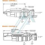 SUN CAGL series hydraulic counterbalance valve