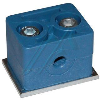 Plastic bracket ø 8, for tube hydraulic