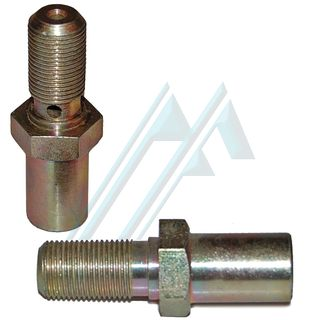 Fitting brake male M12X1 L-24 adapter