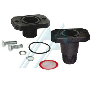 "Kit complete flange union long M1"" PA + fibreglass"
