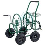 Wheelbarrow metal with winder for hose 80 m