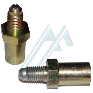 Fitting brake male M10X1.25 L-17 adapter