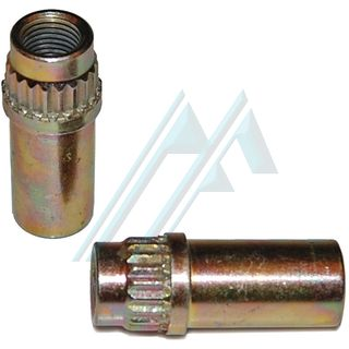 Fitting a brake to female, knurled, M 10X1 adapter