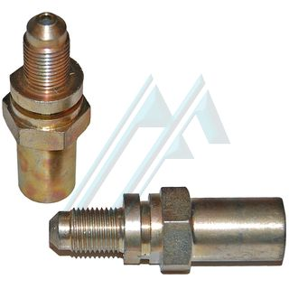 Fitting brake male SAE M10X1 L-16 C-8 adapter