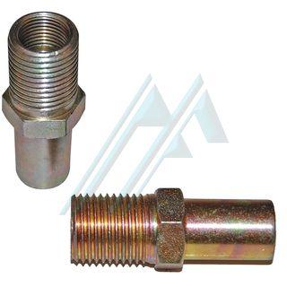 Fitting brake male M. 16X1.5 female M. 12X1 adapter