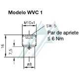 Selector valve HAWE circuit inserted WVC 1