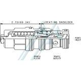 Valvola idraulica scaricare SUN CBGA-LHN