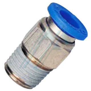 Conical thread PC push-in fitting