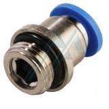 Push-in fitting POC-G cylindrical thread