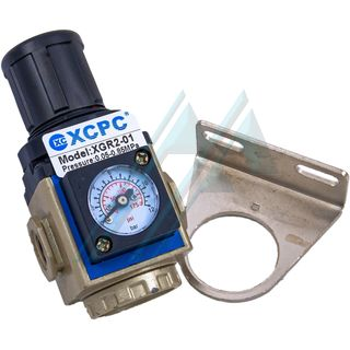 "Pressure regulator pneumatic 1/8"" with pressure gauge XGR2-01"