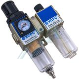 "Filtration equipment F + R + L 1/4 ""with pressure gauge XGWL2-02"