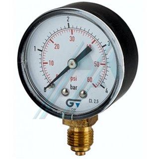 """Pressure gauge Ø 53 of 0-2.5 Kg vertical thread 1/4 """""""