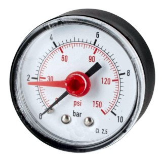 "Pressure gauge Ø 53 0-16 Kg rear thread 1/4 ""with red indicator"