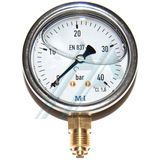 Pressure gauge ø 63 with glycerin, 0-40 kg vertical outlet