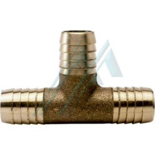 """Tee sleeve for connection of 3/8 """"hoses and 14 mm. Brass tube"""