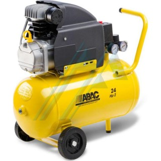 Abac lubricated coaxial piston compressor
