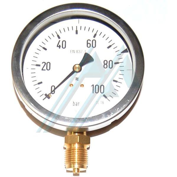 Man metro 100 seco 0 100 kg salida vertical for Manometro para medir presion de agua