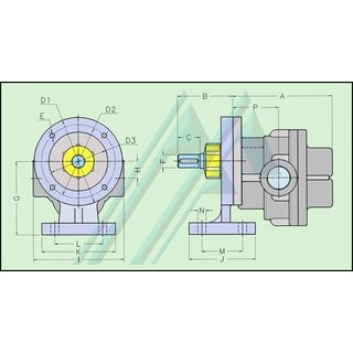 Gear pumps steel with support type MB